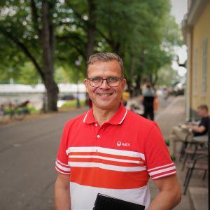 Petteri Orpo fotograferad i Åbo.