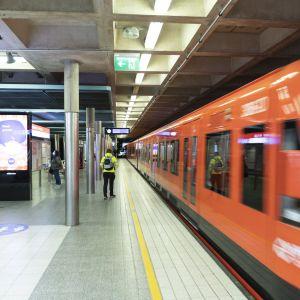 Herttoniemen metroasema.