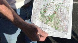 En karta med röda flaggor visar var man hittat avlidna papperlösa invandrare.