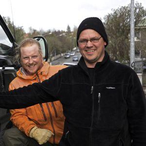 Tom Nylund på Island för Grottäventyret.