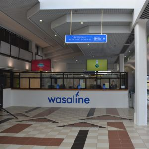 Wasalines nya terminal invigdes den 14 mars 2016.