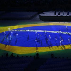 Brasiliens flagga på Maracana