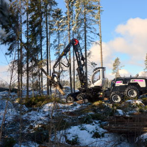 Logsets nya hybridskördare.
