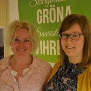 Helena Särkijärvi och Sanna Autio från De gröna.