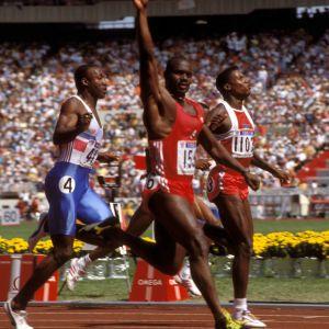 Ben Johnson vinner 100 meter, OS 1988.