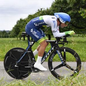 Michael Matthews på en tävlingscykel.