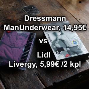 Dressmannin boxerit vs Lidlin boxerit