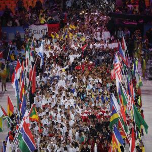 Avslutningsceremoni på Maracana