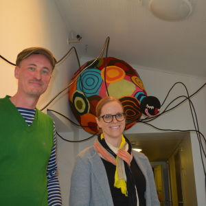 Bo Haglund och Sabina Westerholm
