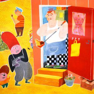 Serieteckning av Lisen Adbåge