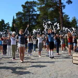 Hejarklacken vid Borgaregatans skola i Vasa.