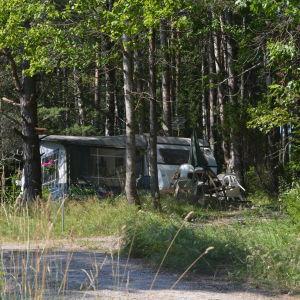 Husvagnen har stått på samma ställe i många år