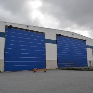 Produktionshall vid Nautors enhet i kållby, Pedersöre