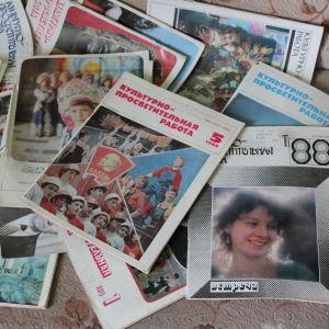 Sovjetiska tidningar från 80-talet i den övergivna kulturhuset i Pyramiden på Svalbard