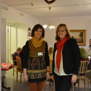 Lärare Eva-Maria Löfqvist och föreståndare Viveca Salminen