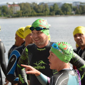 Sista palavern inför starten av Sun City Triathlon