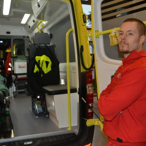 Ambulansen vid Ekenäs räddningsverk är helt ny.