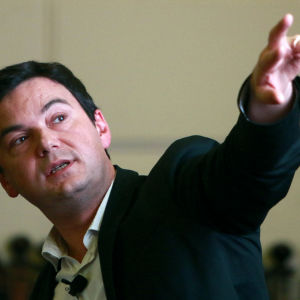 Den franske nationalekonomen Thomas Piketty på kongress i Chile, januari 2015