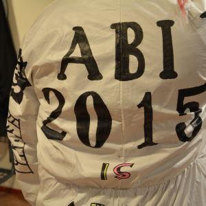 En ryggtalva med texten ABI 2015