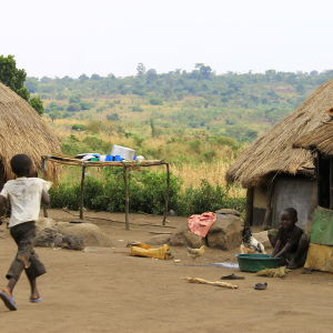 Barn på Kyangwalis flyktingläger.