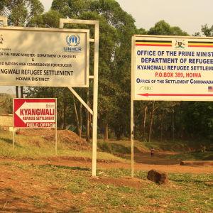 Kyangwalis flyktingläger i västra Uganda