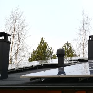 solpanler på tak