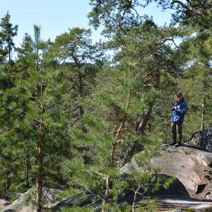 Patrik Berghäll i Vaarniemi naturskyddsområde
