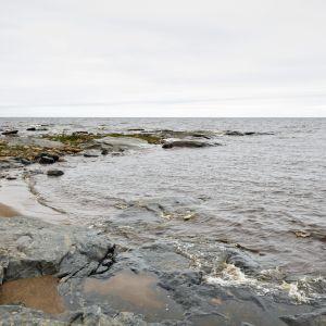 Hanhikivi-området i Pyhäjoki där Fennovoima fått tillstånd att bygga kärnkraftverk.