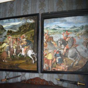 Tavlor från 1500-talet på Stensböle gård.
