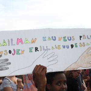 Demonstration mot rasism