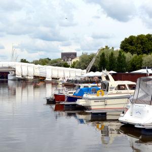 Gästbåtshamn i Borgå å