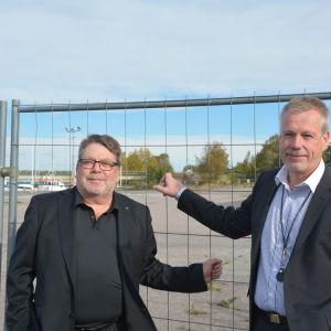 Konsult Peter Tanzer och Ralf Lindén från Åbonejdens OP-Fastighetscentral.