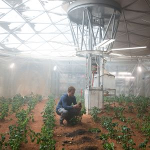 Matt Damon som Mark Watney i The Martian.