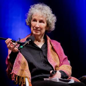 Författaren Margaret Atwood i Köln den 18 mars 2014.