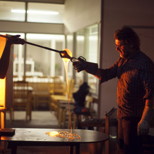 Markku Salo behandlar glas