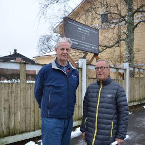 Pensionärerna Bertel Widjeskog och Pehr Löv