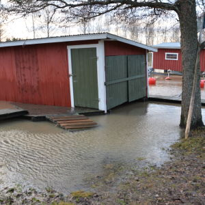Högt vatten i Lammalabäcken