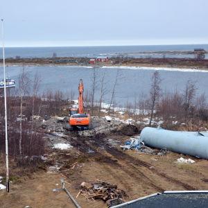 Gården vid sjöbevakningsstationen.