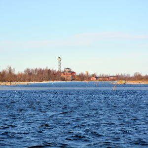 Infarten till sjöbevakningsstationen på Valsörarna.
