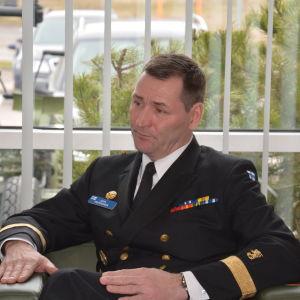 Stabschefen för marinen, amiral Juha Vauhkonen.