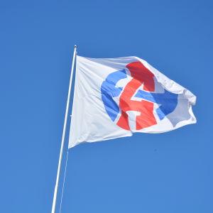 Rederiet Alfons Håkans flagga.
