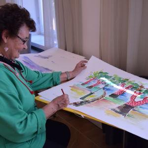 Kirsi-Marja Myöhänen deltog i målandet