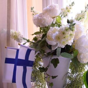 Blommor på Schjerfbecks födelsedag