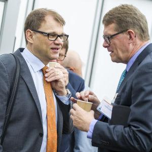 Juha Sipilä och Matti Vanhanen