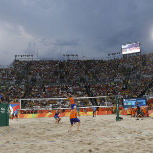 Beachvolley på Copacabana under sommar-OS 2016.