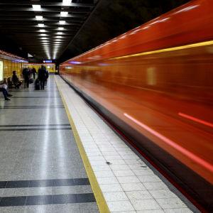 Metrostation i Helsingfors.
