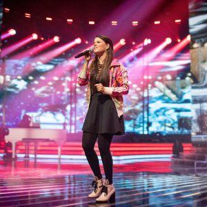 Saara Aalto övade fredagen 2 december inför X Factors semifinal.