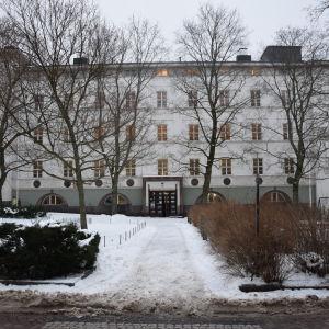 Minervaskolan i januari 2017. Skolan ska renoveras från och med slutet av februari.