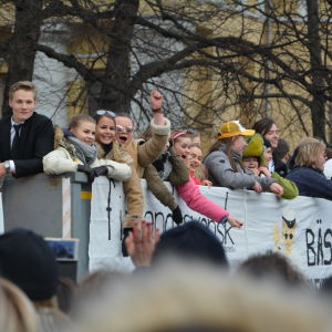 Abiturienter under penkis 2017 i Åbo.