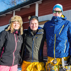 Ida Berg, Niklas Andersson och Joakim Gistö.
